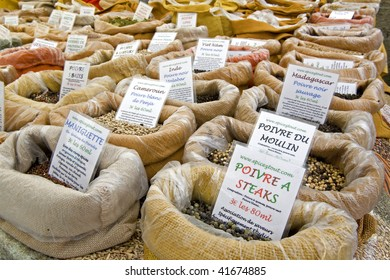 spices in a market