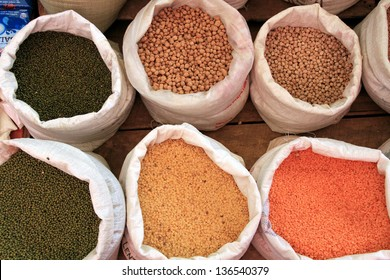 Spices at a market in Sri Lanka