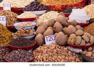 Spices and nuts. Spice market.