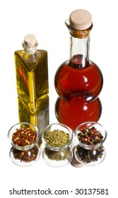 spices with oil and vinegar