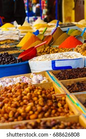 Spices on the market in fez, morocco