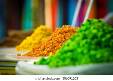 Spices. Spices on the market in India - Shutterstock ID 306091103
