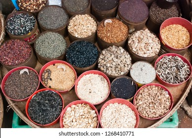 Spices on a market in Kalaw, Myanmar (Burma), South-East Asia