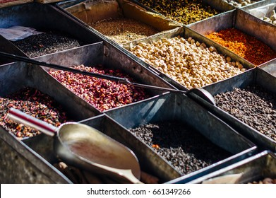 Spices on the street market in Kashgar, Xinjiang, China