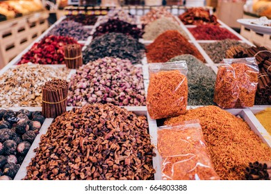 Spices on turkish bazaar
