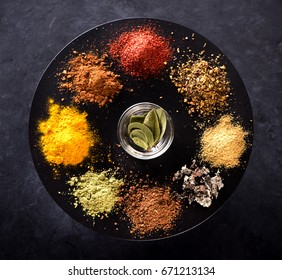 Spices, seasonings and herbs. Cooking concept