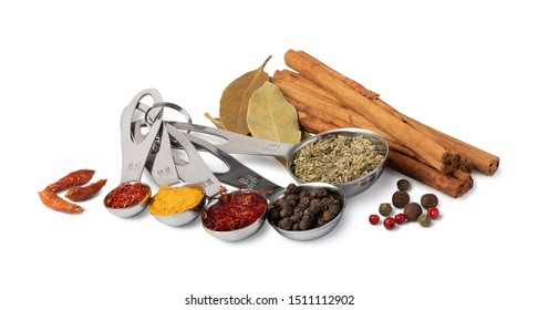 spices set isolated on white background