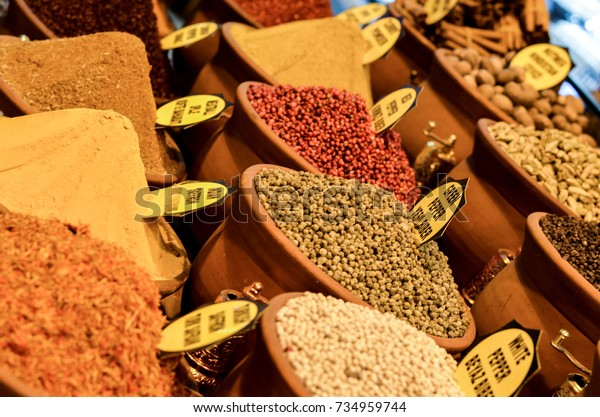 Spices Shop Display Tags Spice Name Stock Photo (Edit Now