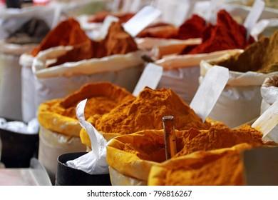 Spices, Street Market, Medina of Sousse, Tunisia