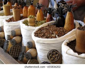 Spices trading at Bukhara Bazar, Bukhara, Uzbekistan