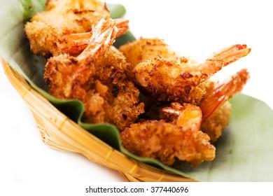 Spicy asian fried shrimp called bang bang