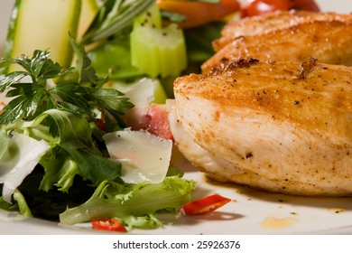 Spicy chicken breast with celery