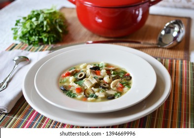 Spicy Chicken and Hominy Stew