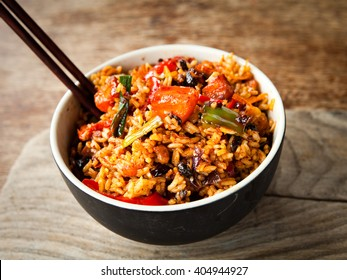 Spicy chinese chicken fried rice