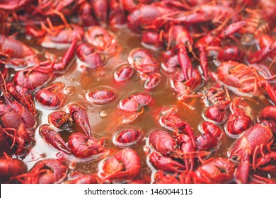 Spicy Crawfish Boiling in Pot