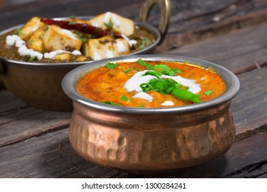 Spicy dal fry dhal/daal curry popular traditional North/South Indian food dish for chapati/chapathi, roti, nan, puri, rice. split pea or lentil soup