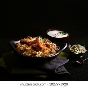 Spicy and delicious chicken biryani