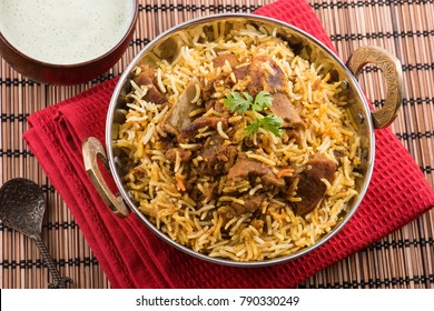 Spicy and delicious mutton biryani
