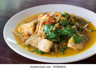 Spicy fish with herbs Thai style