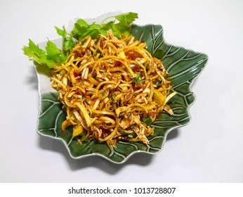 Spicy food banana blossom
