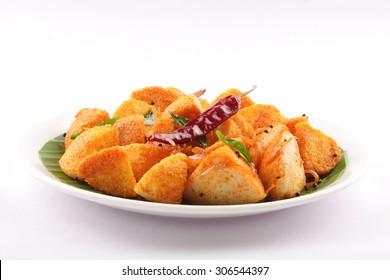 Spicy food masala idly