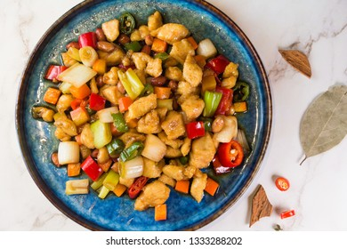 Spicy fried Kung Pao Chicken