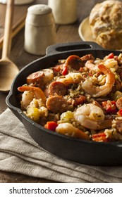 Spicy Homemade Cajun Jambalaya with Sausage and Shrimp
