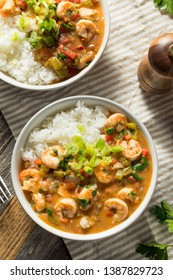 Spicy Homemade Cajun Shrimp Etouffee with White Rice