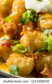 Spicy Homemade Loaded Taters Tots with Cheese and Bacon