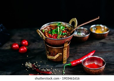 Spicy Indian Chili Soup in a Plate