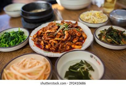 Spicy Korean Jukumi (stir-fried baby octopus)