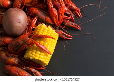 Spicy Louisiana Boiled Crawfish with Corn and Potato