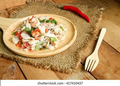 Spicy pork, shrimp vermicelli salad