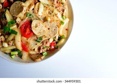 Spicy pork vermicelli