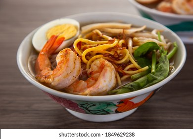 Spicy Prawn Noodle. A delicacy made popular by the Chinese in Malaysia