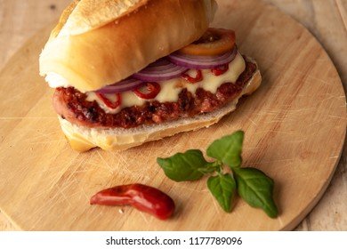 spicy sausage snack