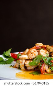 Spicy shrimp,Thai food.