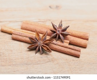 Spicy Sticks Cinnamon Anise Lie On Stock Photo (Edit Now