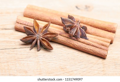 Spicy Sticks Cinnamon Anise Lie On Stock Photo (Edit Now