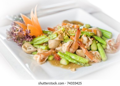 Spicy thai food made out of fresh ingredients