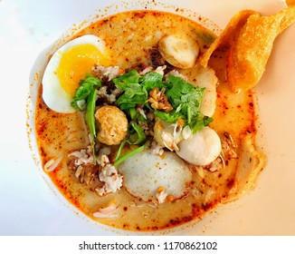 Spicy Thai Noodles with herbs, Tomyam noodles, Thai food, Thailand