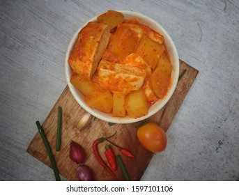 Spicy tofu of delicious traditional spices