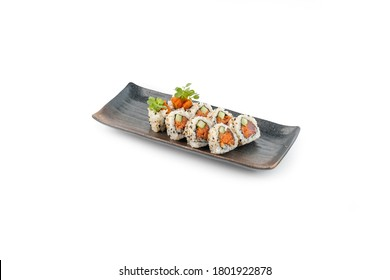 Spicy tuna roll made with fresh raw toro belly tuna. Upscale and delicately plated sushi.