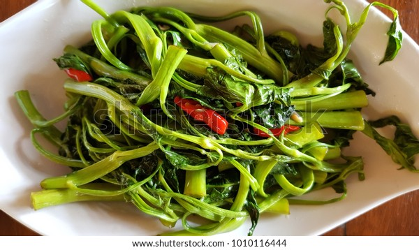 Spicy Water Spinach Tumis Kangkung Stock Photo Edit Now 1010116444