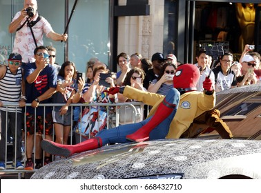 Spider-Man at the World premiere of 'Spider-Man: Homecoming' held at the TCL Chinese Theatre in Hollywood, USA on June 28, 2017.