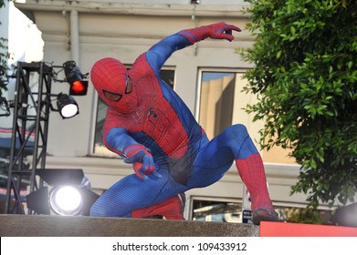 "Spider-Man at the world premiere of ""The Amazing Spider-Man"" at Regency Village Theatre, Westwood. June 29, 2012  Los Angeles, CA Picture: Paul Smith / Featureflash"