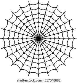 Spiderweb on white background - illustration