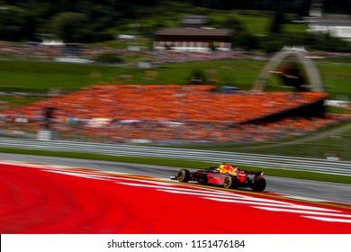 Spielberg, Austria. 01/07/2018. F1 Grand Prix of Austria. F1 World Championship 2018. Max Verstappen, Red Bull, wins the Grand Prix of Austria.