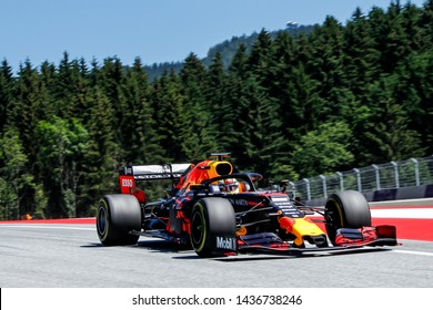 Spielberg, Austria. 28 June, 2019. Grand Prix of Austria. F1 World Championship 2019. Max Verstappen, Red Bull.