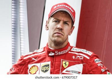 Spielberg, Austria. 9 July 2017. F1 Grand Prix of Austria. Sebastian Vettel, Ferrari, on the podium.